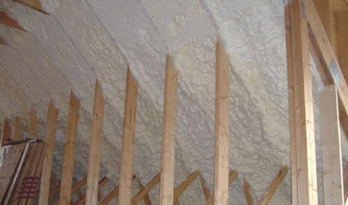 Florida Custom Builder - Icynene Insulation Roof